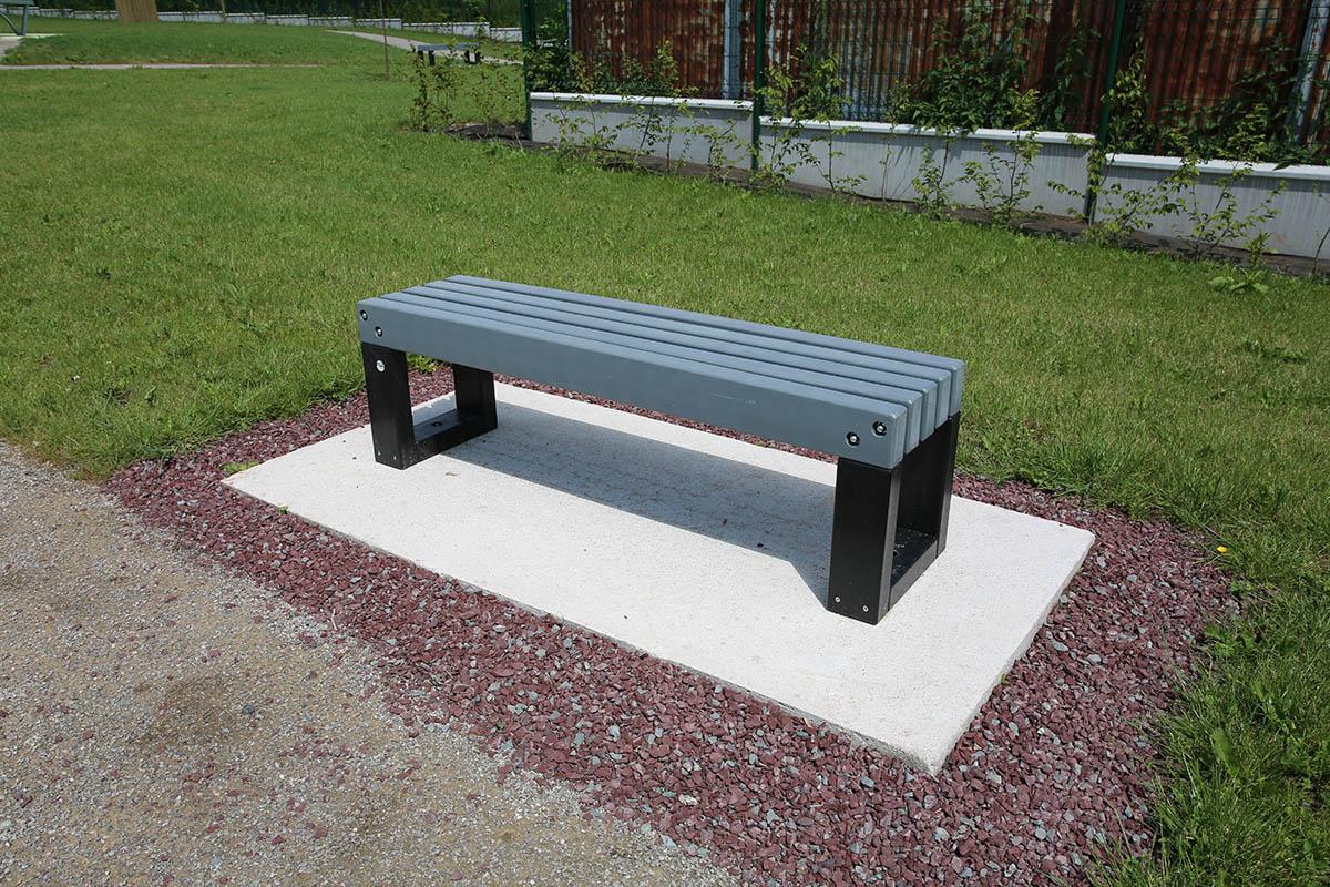 Aménagement bancs Tabléa - Parc public Flesselles - Candéliance