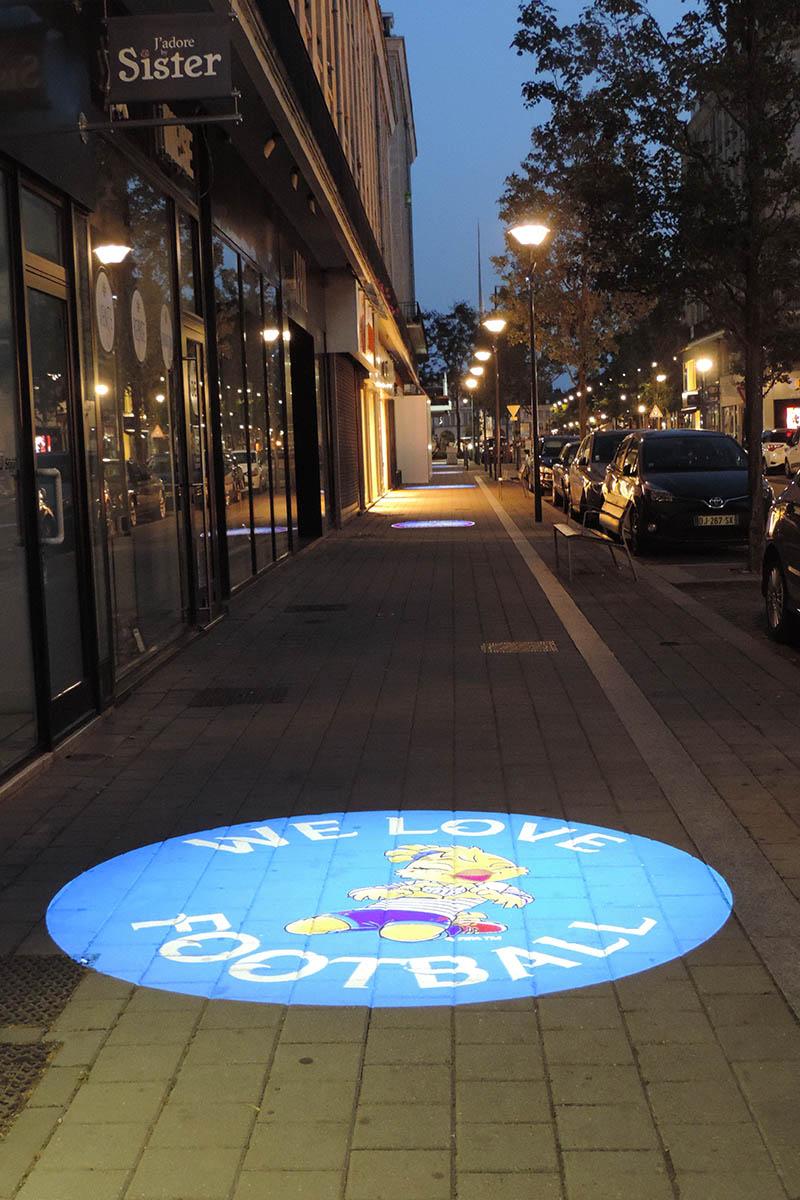 Mise en lumière rue de la paix - Projection Gobos Coupe du monde Féminine de Football