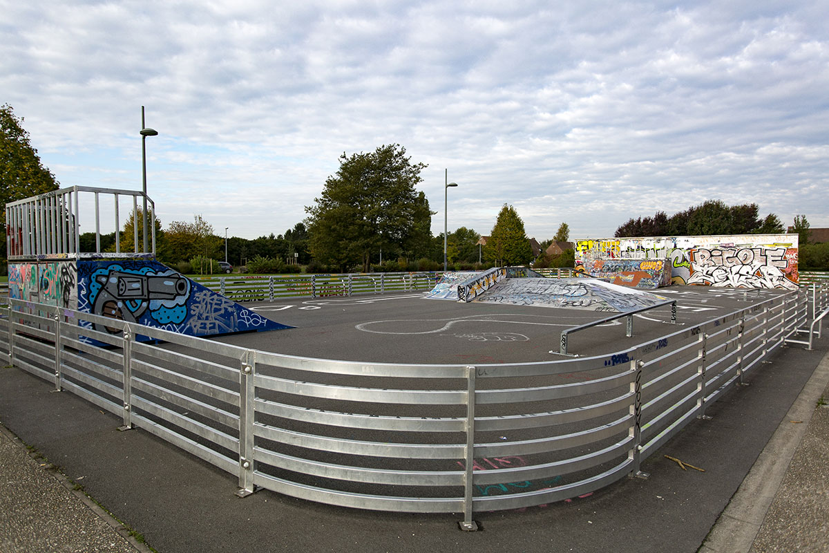 Aménagement d'un SkatePark à Lezennes - Réalisation 3R Skatepark - Candéliance
