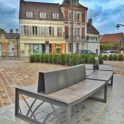 Aménagement centre ville assise design espaces mouy