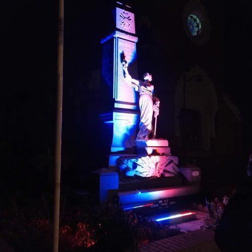 BILLY-BERCLAU, Mise en lumière monument aux morts