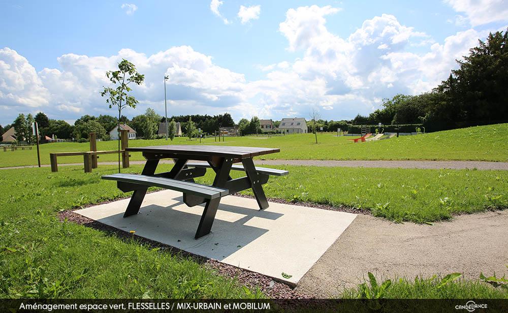 amenagement espace vert mobilier urbain